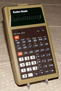 Vintage Radio Shack Electronic Pocket Calculator, Model EC-495, Catalog No. 65-638A, Made in Taiwan, Circa 1978.