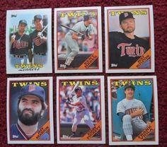 1988 Topps Minnesota Twins #Baseball Team Set 30 #Cards  Kirby Puckett Kent Hrbek from $1.99