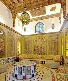 Maybe Beit Aqqad in souk al Souf An old house - Damascus. On second look it could be Opaline house turned restaurant. Islamic Architecture, Art And Architecture, Architecture Details, Futuristic Architecture, Naher Osten, Doris Duke, Cradle Of Civilization, Moroccan Design, Shangri La