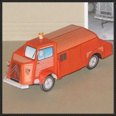 Citroën HY Fire Engine Free Vehicle Paper Model Download - http://www.papercraftsquare.com/citroen-hy-fire-engine-free-vehicle-paper-model-download.html