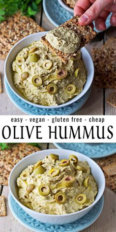 Olive Hummus Here is my new Olive Hummus recipe. Yes you heard right, olives and hummus. What sounds Olive Hummus Recipe, Vegan Hummus, Hummus Food, Hummus Dip, Vegetarian Recipes, Cooking Recipes, Healthy Recipes, Olive Recipes Vegan, Ideas Para Fiestas
