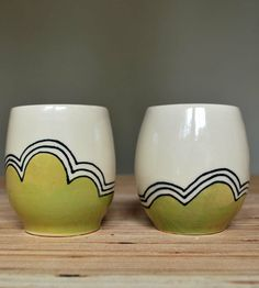 Li'l Yunomi Chartreuse Hills Stoneware Cups – Set of 2 | Home Dining & Barware | Toast Ceramics | Scoutmob Shoppe | Product Detail