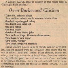 ♥Oven BBQ Chicken