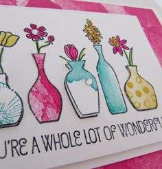 Stampin Up Vivid Vases and Happy Watercolor Stamp Set