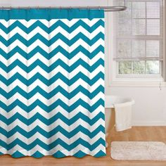 product image for Ryder 72-Inch x 72-Inch Shower Curtain in Peacock Blue/White