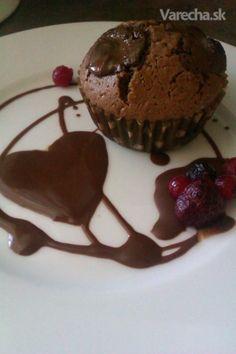 Čokoládovo-ovocné muffins (fotorecept)