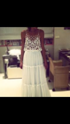 Dress: lace indie boho boho chic prom maxi white hippie hipster tumblr country style whitelace white