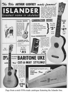 The Uke Arthur Godrey made famous! My dad bought one of these. It was the first ukuele I played. All plastic, designed by the same man famous for his Gypsy Jazz Guitar design.