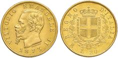 NumisBids: Nomisma Spa Auction 50, Lot 394 : Vittorio Emanuele II (1861-1878) 20 Lire 1873 R – Pag. 469; Mont....
