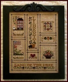 Little House Needleworks.  Luv this, especially stitched over one.