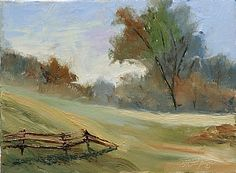 Old Lyme, CT, Farm by Tommy Thompson Oil ~ 9 x 12