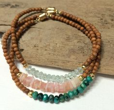 Love these bracelets! I'll have to pick up some wood beads to make my own version!