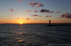 5:30 Uhr Sonnenaufgang beim Auslaufen in Warnemünde