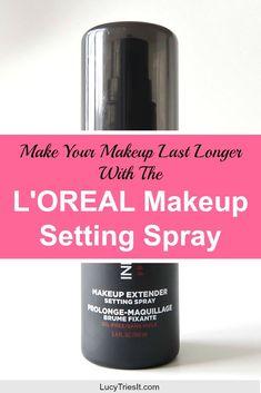 How To Make Your Makeup Last With The L'oreal Makeup Setting Spray - Makeup Killer Makeup Tips For Oily Skin, Drugstore Makeup Dupes, Beauty Tips For Skin, Beauty Makeup Tips, Makeup Blog, Makeup Cosmetics, Makeup Hacks, Makeup Tutorials, Beauty Ideas