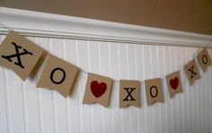 Valentine's Day Banner. Valentine's Banner. XOXOXO Banner. XOXOXO. Happy Valentine's Day. Hugs and Kisses. Photo Prop // Decor. Glitter.