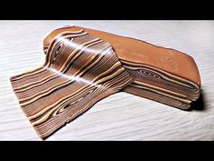 ▶ Polymer Clay Tutorial - Faux Wood - Имитация дерева - by Alina Sanina