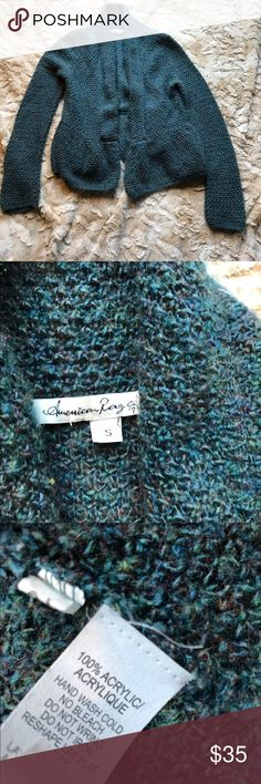 American Rag Open Front Sweater American Rag open front turquoise cardigan. Size small. Excellent condition! Blue and green in color. 100% acrylic. American Rag Sweaters