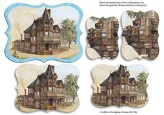 Victorian House Pyramid Layer Card Top on Craftsuprint - Add To Basket!