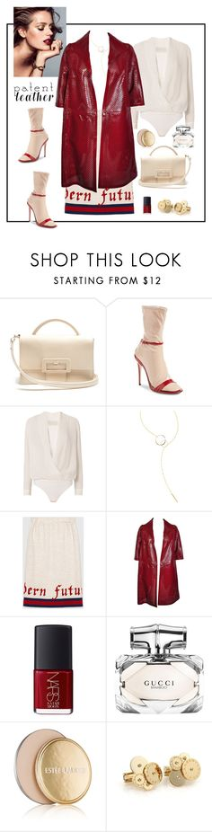 """City Slickers: Patent Leather"" by iojeni ❤ liked on Polyvore featuring Maison Margiela, Gucci, Michelle Mason, Lana, Marni, NARS Cosmetics, Estée Lauder and Bulgari"