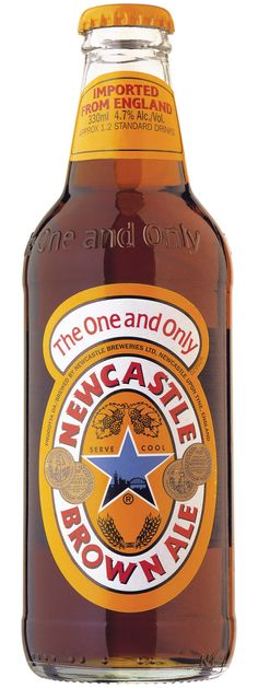 Newcastle Brown Ale beer - One my favorites so far, easy easy to drink, light taste, nice and crisp especially when chilled Booze Drink, Alcoholic Drinks, Beer Brewing, Home Brewing, Newcastle Brown Ale, 365 Jar, Craft Bier, Ale Beer, Beer Brands