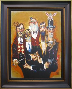 Band of Thugs - giclee on canvas from Todd White #toddwhite