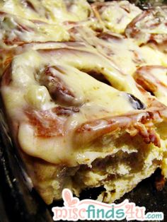 Christmas Morning Homemade Cinnamon Rolls with Cream Cheese Frosting - freezer and bread maker recipe