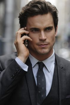 Matt Bomer, you're working that gray suit