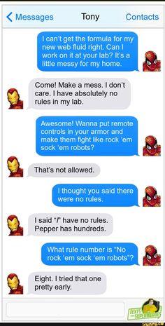 Funny Marvel Memes, Marvel Jokes, Dc Memes, Marvel Dc Comics, Funny Memes, Superhero Texts, Avengers Texts, Marvel Avengers, Texts From Superheroes