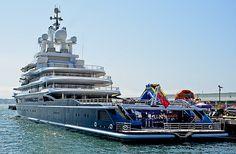Mega Yacht LUNA - Roman Abramovich - San Diego Harbor