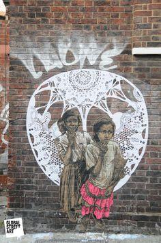 Street Art by Swoon, East London
