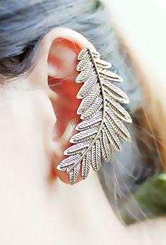 Leaf cuff earring