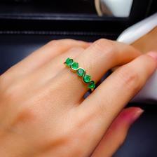 AAA Quality 100% Natural Zambian Emerald Round Natural Emerald | Etsy Emerald Band, Natural Emerald Rings, Emerald Stone, Solid Gold, White Gold, Zambian Emerald, Dainty Ring, Loose Gemstones, Gemstone Rings