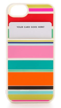genius. this iphone case has a slot for your id and credit card! #katespade