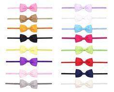 Price:	$11.99 & FREE Shipping on orders over $35. - Newborn Baby Girls Grosgrain Hair Bow Slim Headbands(16 Pack) ClorisAccessory http://www.amazon.com/dp/B00ZTW9ZNM/ref=cm_sw_r_pi_dp_EEb-vb0FN0R6G