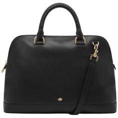 Pembridge Double Handle Bag Black Soft Tan Leather found on Polyvore