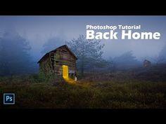 Back Home | Photoshop Manipulation Tutorial | Dramatic Art - YouTube Photoshop Tips, Photoshop Tutorial, Ps Tutorials, Photography Projects, Photo Manipulation, Photo Art, Tube, Desktop Screenshot, Ps