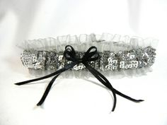 Silver Sequin Prom Garter with White Sheer Prom Garters This is a beautiful metallic themed sequin garter. It is perfect for prom or your evening Prom Garters, Prom 2014, Prom Flowers, Lace Garter, Wedding Places, Silver Sequin, Formal Prom, Floral Centerpieces, Prom Hair