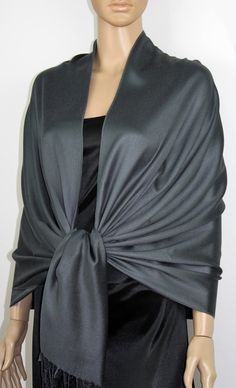 Check out this item in my Etsy shop https://www.etsy.com/listing/290102917/charcoal-gray-pashmina-scarf-wedding