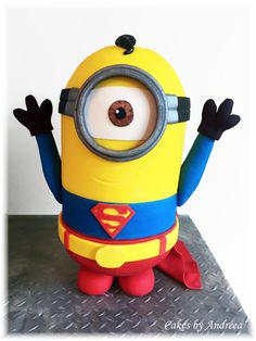 Minion Superhero Cake. Superman Minion.