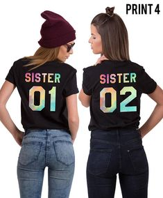 Sister 01 Sister 02 Shirts, Sister Shirts, Sister Gift, Gift for Sister, Sister T-shirt, Matching Sister Shirts, Sister Matching Shirts ◆ ◆ ◆ ◆ ◆ ◆ ◆ ◆ ◆ ◆ ◆ ◆ ◆ ◆ ◆ ► THE PRICE IS FOR THE SET OF TWO MATCHING SHIRTS. ► Numbers on the shirts can be CUSTOMIZED upon request! Just please