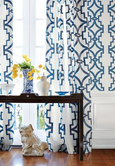 draperies#Thibaut Guest room/office