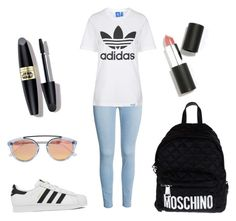Untitled #198 by yasmeenf on Polyvore featuring polyvore, fashion, style, Topshop, adidas, Moschino, Westward Leaning, Sigma Beauty, Max Factor, women's clothing, women's fashion, women, female, woman, misses and juniors