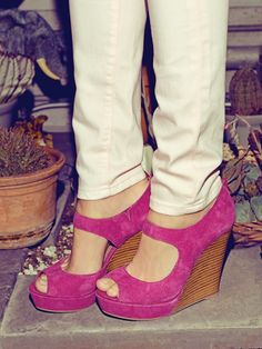 DOWN TO THE WIRE Seychelles Plum Suede Wedges available -at https://www.facebook.com/rruscohouma