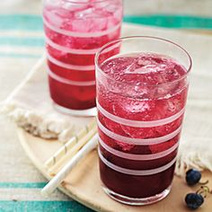 Ingredients      2 cups blueberries      1 1/2 cups dry gin      3/4 cup water     1/2 cup sugar     3 cardamom pods     Crushed ice     1/2 cup fresh lemon juice      Additional blueberries (optional)  Calories: 159