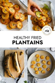 Fried plantains are an unexpectedly delicious side dish with their crispy exterior and soft, creamy insides. Try them as a healthy side dish instead of sweet potatoes or add a few of these Whole30 Fried Plantains to a salad for a dose of healthy carbohydrates.
