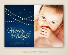 Marry & Bright Photo Card - Holiday Card  by Lucy Loves Paper https://www.etsy.com/listing/165790129/