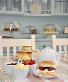 Traditional British afternoon tea with scones, Sandleigh Tea Rooms, Croyde Tea Room Decor, Dream Tea, Tea Places, Cuppa Tea, Tea Service, High Tea, Afternoon Tea, Love Food, Tea Time