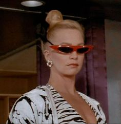 pointy red space sunnies  Goldie Hawn in Overboard