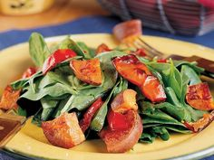 Roasted Sweet Potato Salad http://www.prevention.com/food/healthy-eating-tips/12-power-salads-that-wont-leave-you-hungry/slide/13