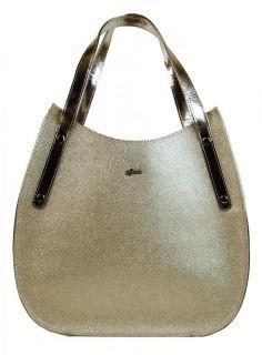 b6732b4dad Dámské kabelky. Zlatá elegantní dámská kabelka S704 GROSSO